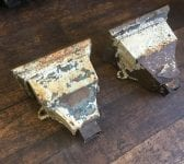 Cast Iron Rectangular Rain Hopper Pair