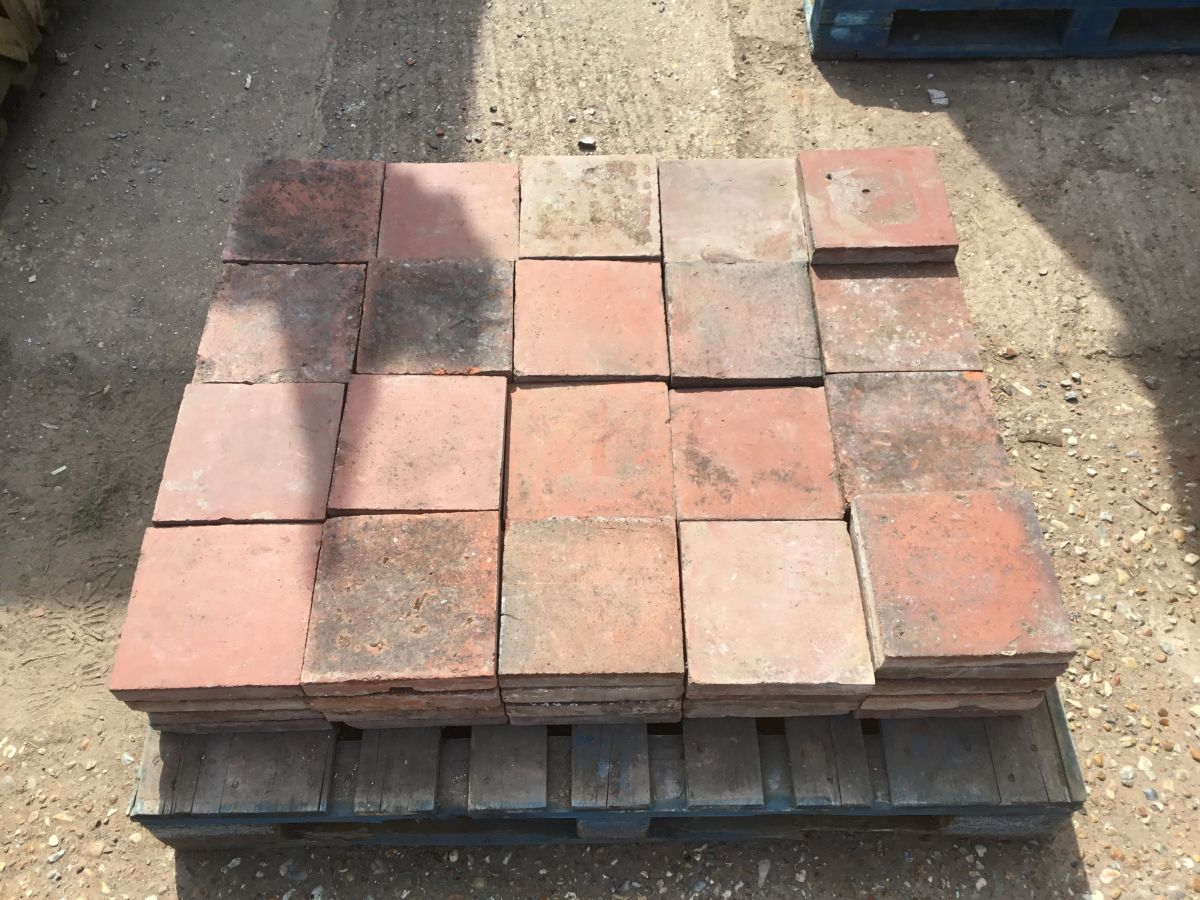 "8 3/4"" Square English Floor Tiles"
