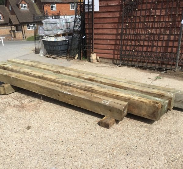 Large Oak Beams Reclaimed Batch