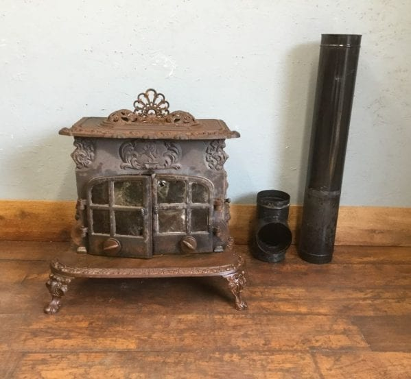 Highly Ornate Cast Iron Wood Burner
