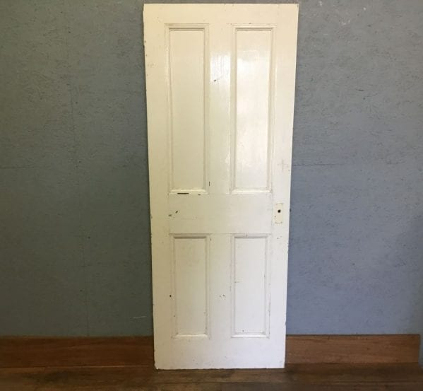 4 Panelled Reclaimed White Painted Door