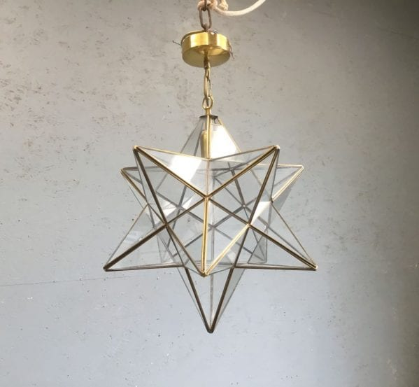 Brass Star Pendant Lantern
