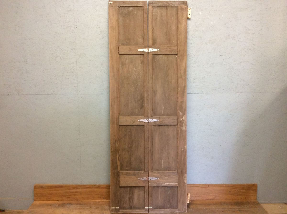 Antique Hardwood Folding Door
