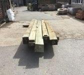 Large Oak Beams Reclaimed Batch