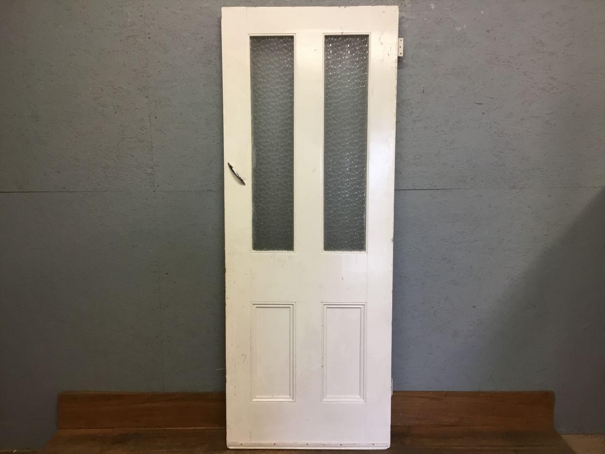 Half Glazed Frosted White Door