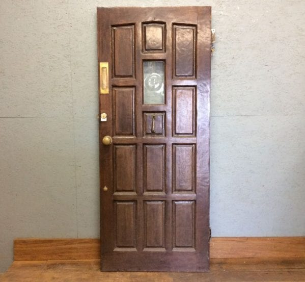 Hardwood Front Door With Keys