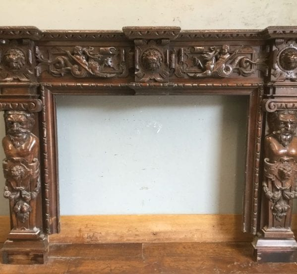 Jacobean Style Oak Fire Surround