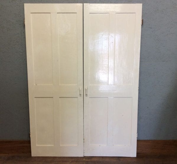 Pair Of White 4 Panel Cupboard Doors