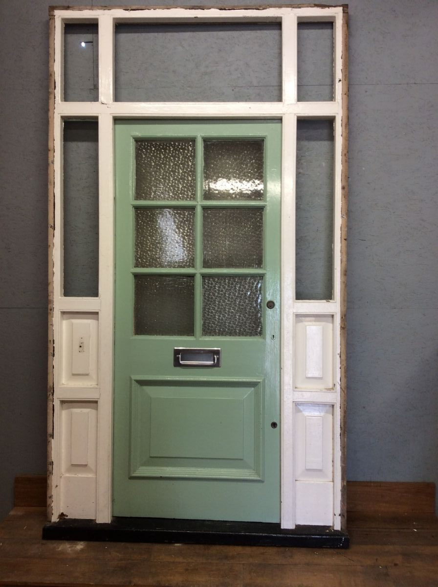 Big Mint Door In Large Frame