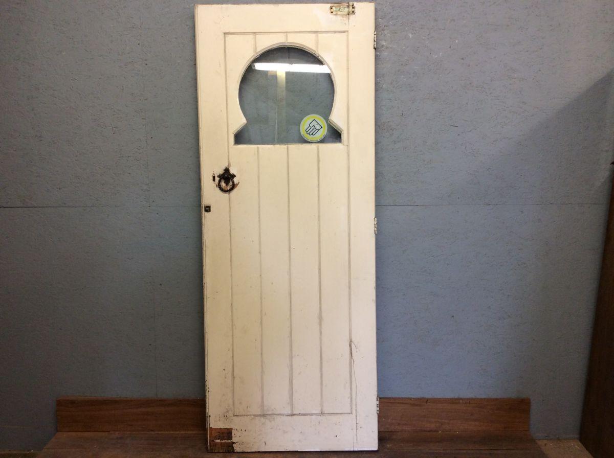 Half Glazed Horse Shoe Panel Door