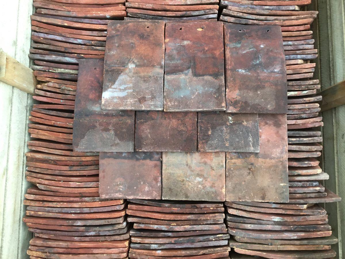 Handmade Red Peg Tiles