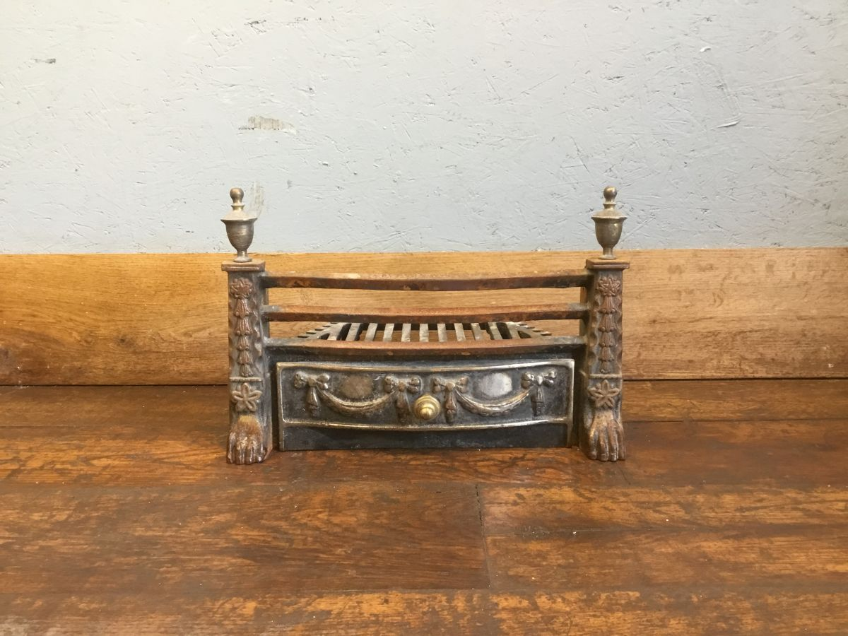 Brass Finial Fire Basket