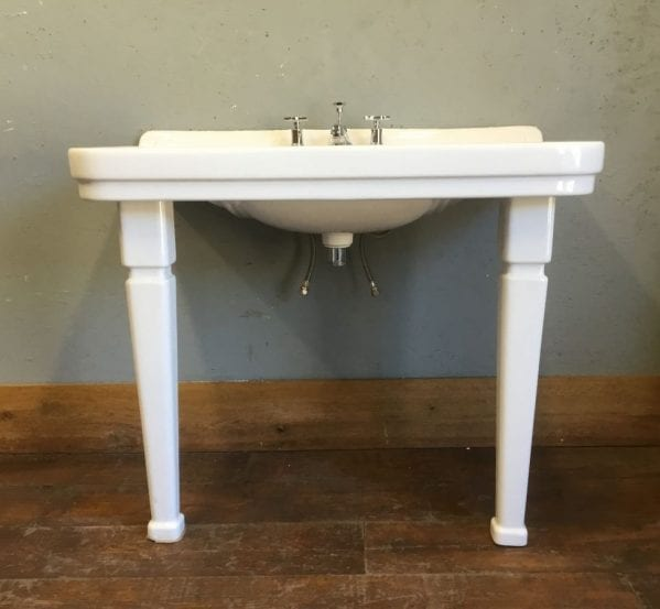 Lefroy Brooks Console Basin With Legs & Taps