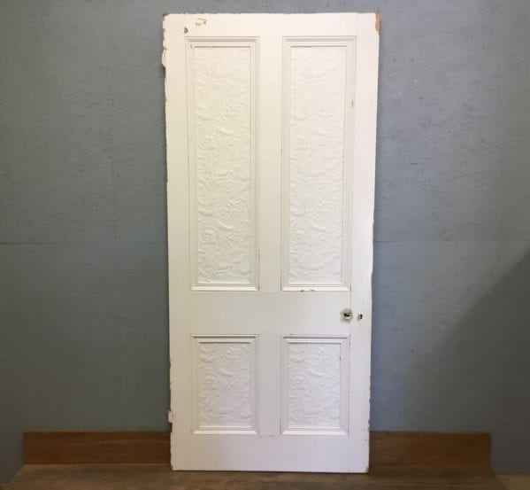 Large Grand Floral 4 panelled Door