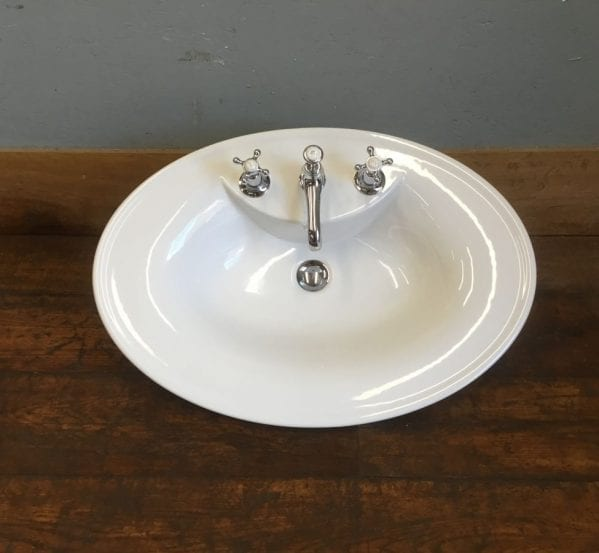 Smooth Oval Basin With Lefroy Brooks Taps
