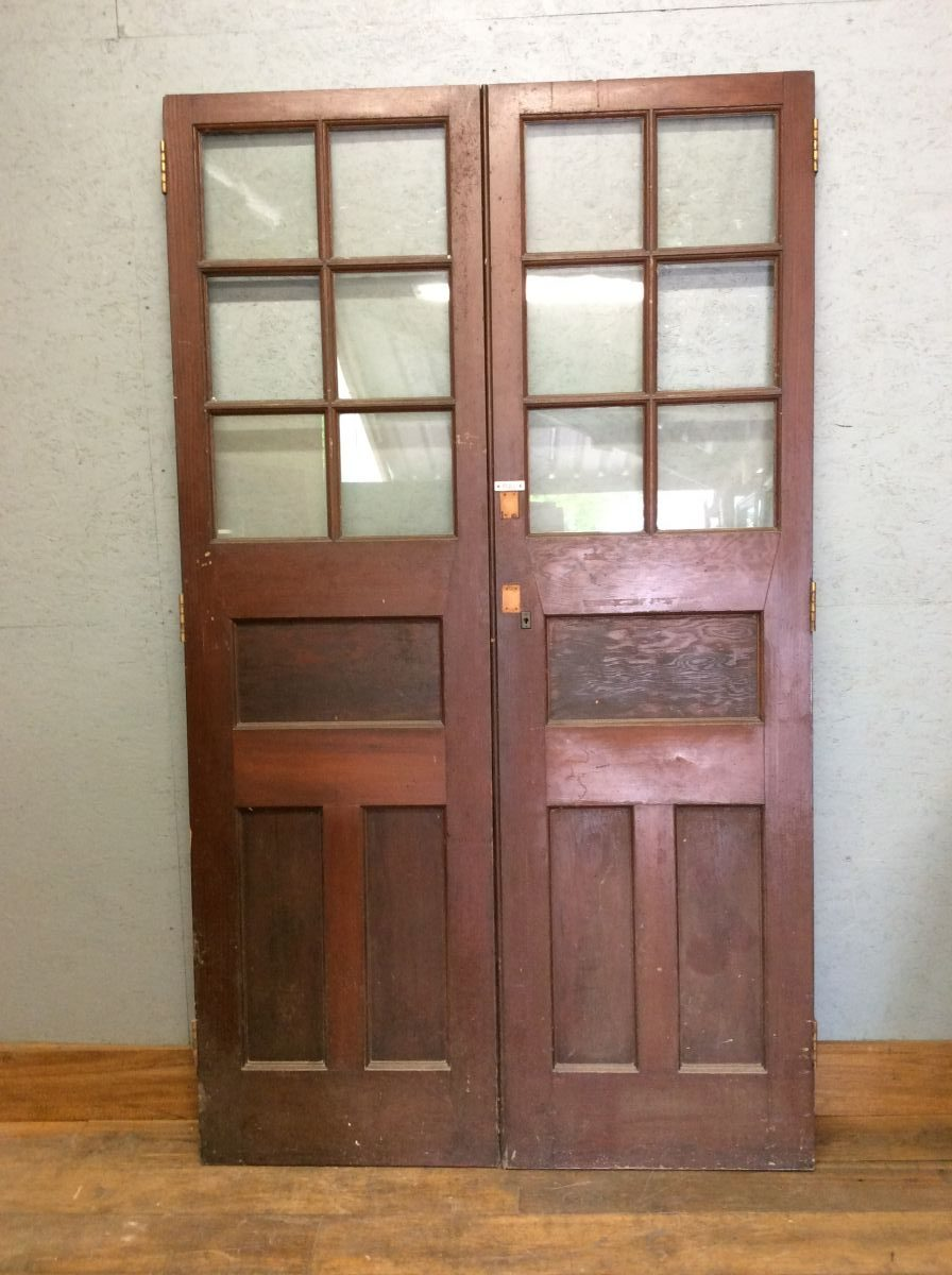 Tall Half Glazed Double Doors