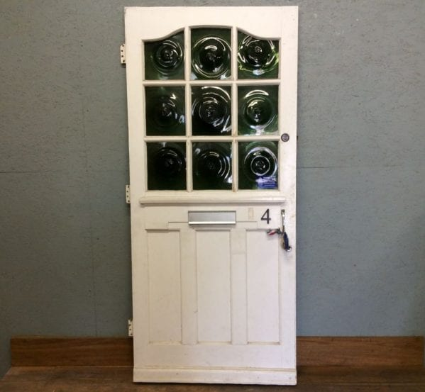 Green Swirl Glazed Front Door (Perfect Pair)