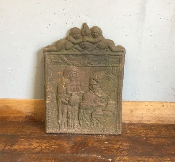 Cast Iron Scene Fire Back