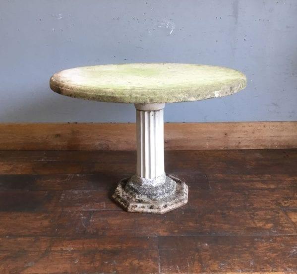 Round Stone Garden Table