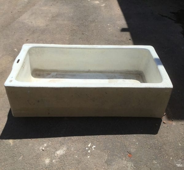Beige Sided Butler Sink Trough