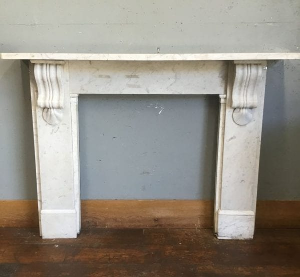 Light Marble Fire Surround Clam Detail