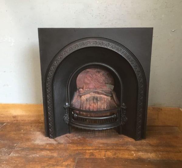 Large Black Fire Insert