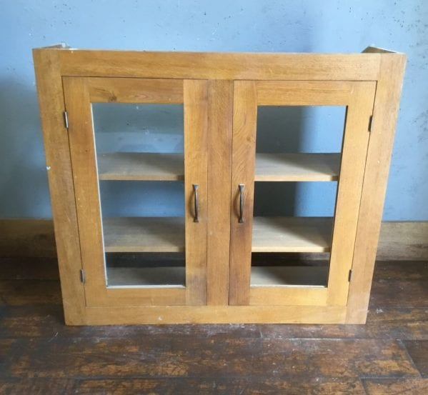 Oak Shelving Cabinet