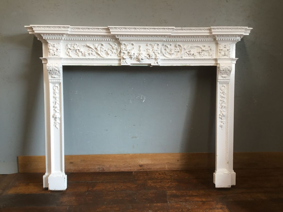 Extra Large Ornate Wooden Fire Surround
