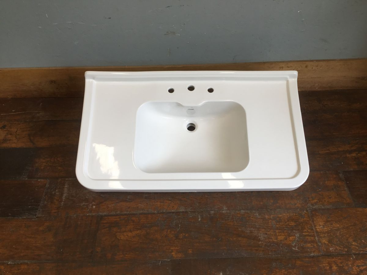 Large Edged White Basin