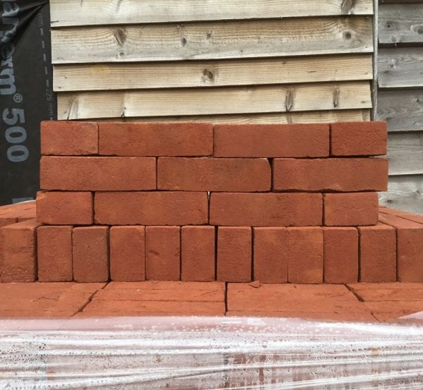 Modern Red Wire Cut Bricks