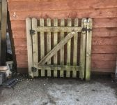 Wooden Rounded Top Single Gate & Posts