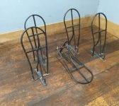 Black Plastic Coated Metal Saddle Racks