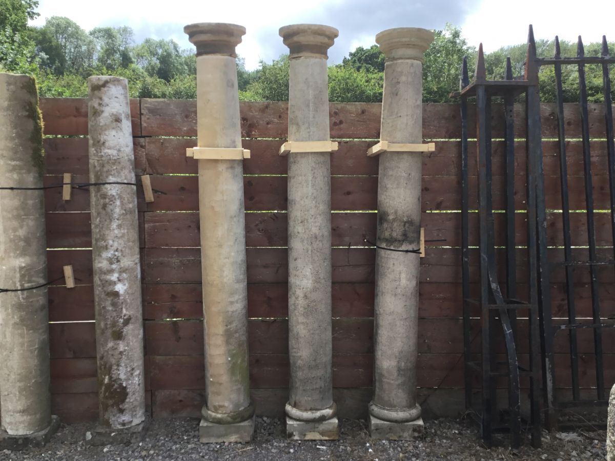Recaimed Stone Pillars