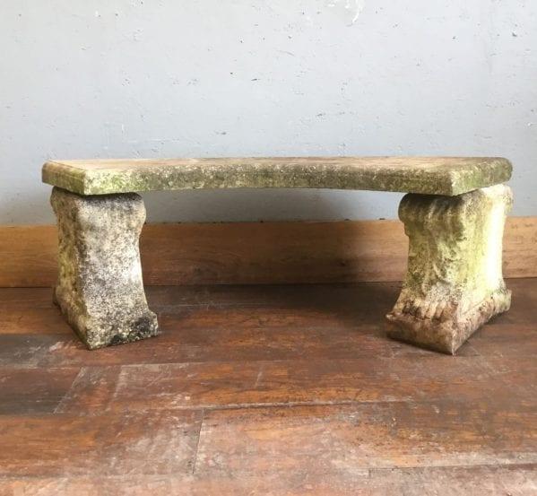 Half Round Stone Bench