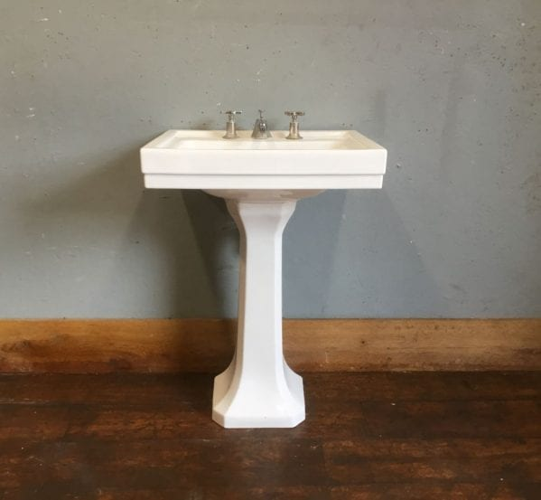 Lefroy Brooks White Basin & Pedestal