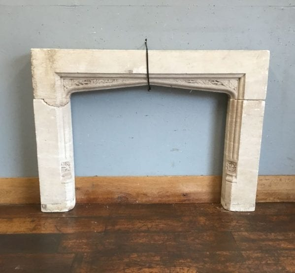 Late Georgian Carved Stone Fire Surround