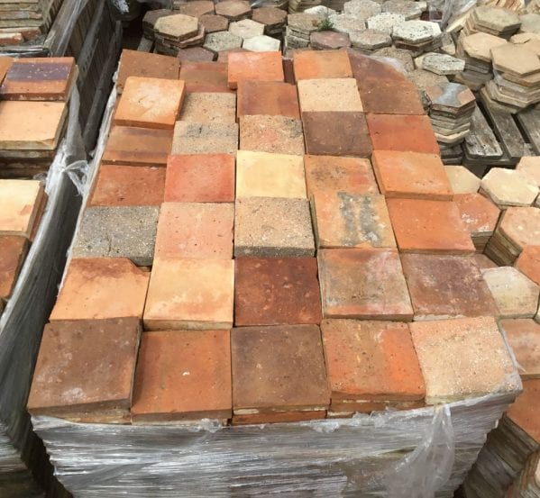 "Square 6 1/4"" French Floor Tiles"