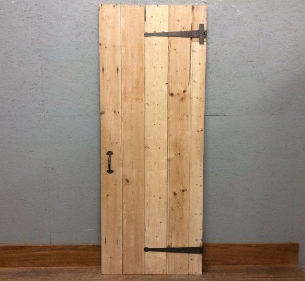 Nice & Light Stripped Ledge & Brace Door