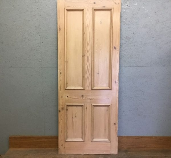 Premium Stripped 4 Panelled Door w Wax Finish