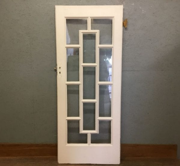 V Nice White Decorative Door