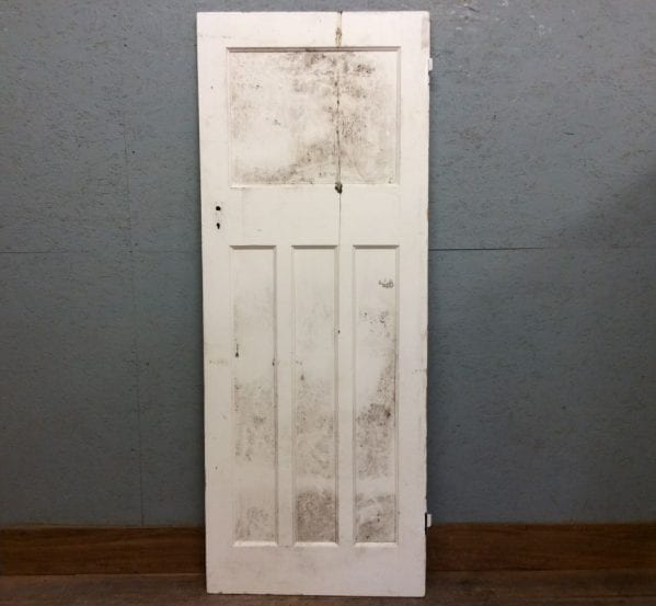 White 1 Over 3, 4 Panelled Door