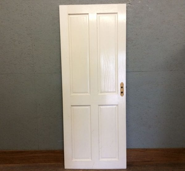 White Painted Four Pan Door