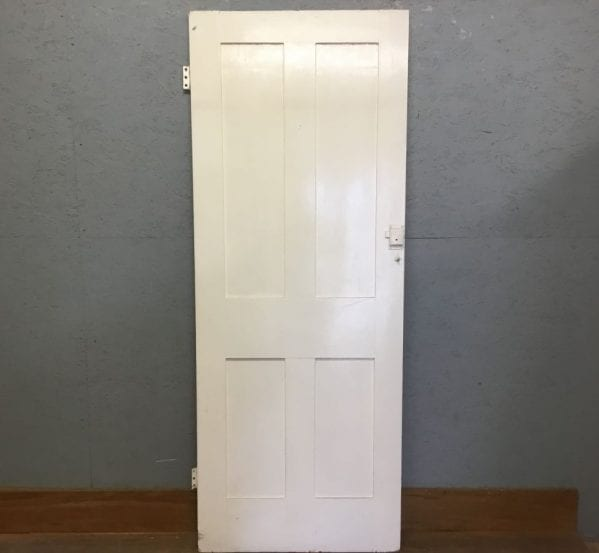 White Stripped 4 Panelled Door