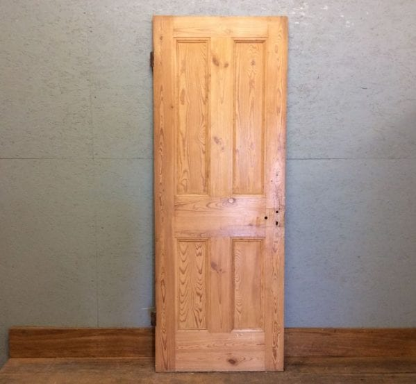 4 Panelled Pine Stripped Door