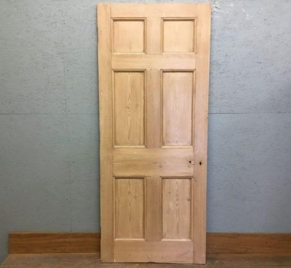 Premium 6 Panel Stripped Wax Fin Door
