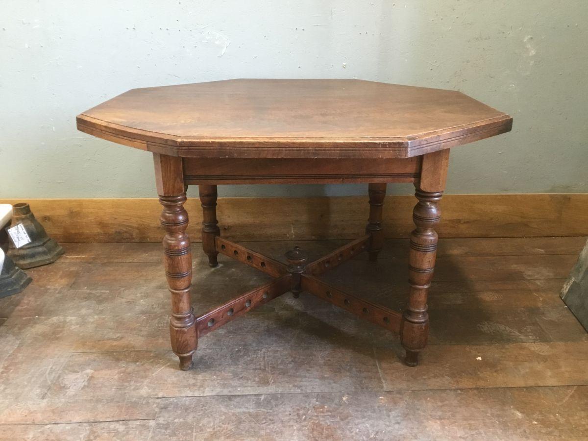 Mahogany Hexagonal Table