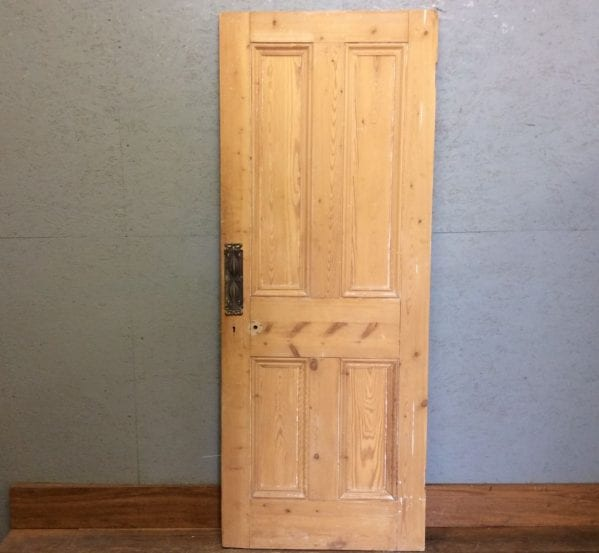 Stripped 4 Panel Door w Push Plates