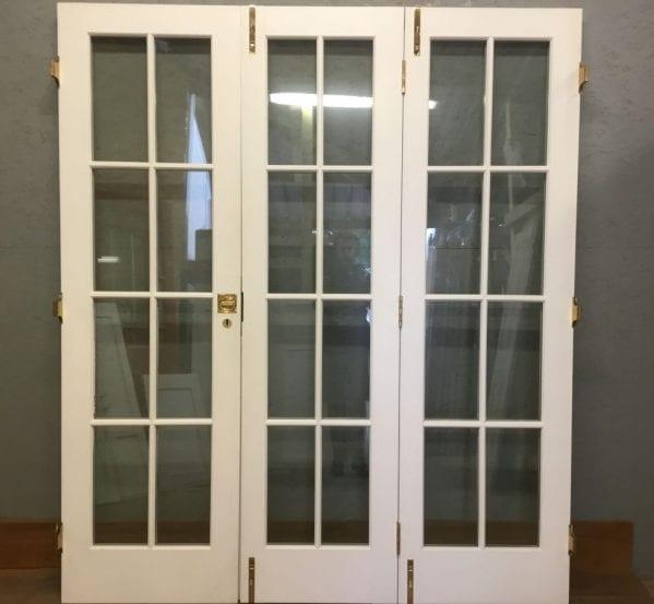 White Double Glazed Set 3x Bi-folding doors