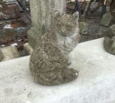 Stone Cat Garden Feature