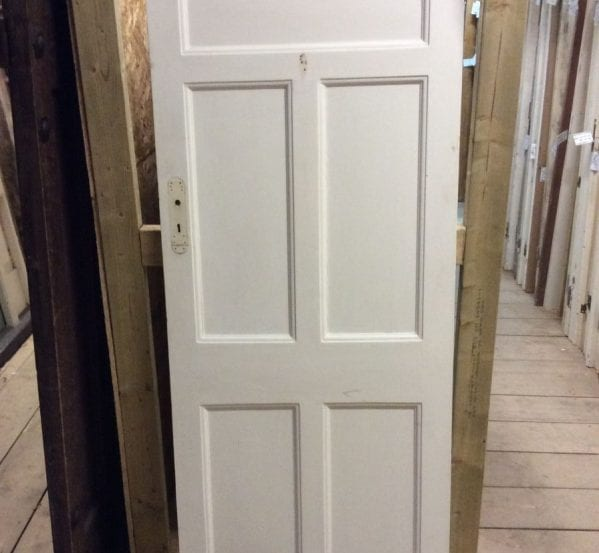 Smaller White 5 Panelled Door
